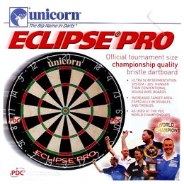 Unicorn Eclipse Pro darts-taulun pakkaus